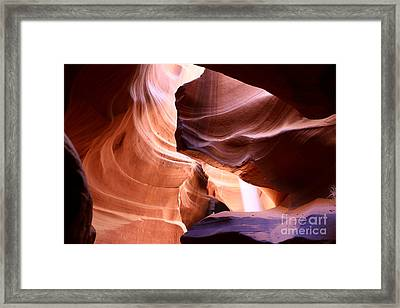 Beautiful Antelope Canyon Colors Framed Print by Christiane Schulze Art And Photography