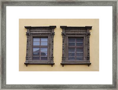 Beautiful Architecture Windows Framed Print by Chris Smith