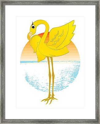 Framed Print featuring the digital art Beautiful Is The Flamingo by Stanley Mathis