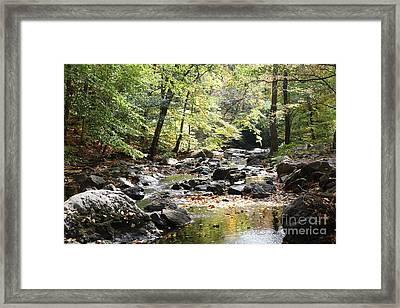 Beautiful Babbling Brook In Sleepy Hollow Framed Print by John Telfer