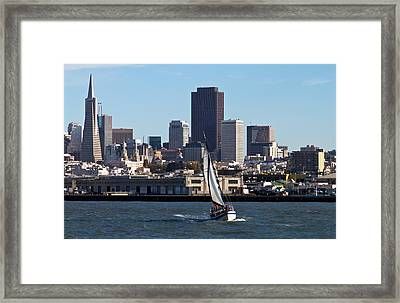 Beautiful Bay Beautiful Day Framed Print by Bernard  Barcos