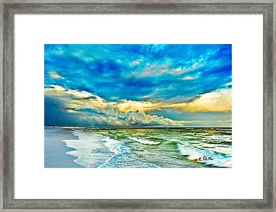 Beautiful Beach Blue Sea Framed Print