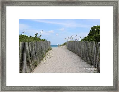 Beautiful Beach Day Framed Print by Carol Groenen