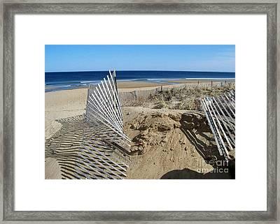 Beautiful Beach Day Framed Print