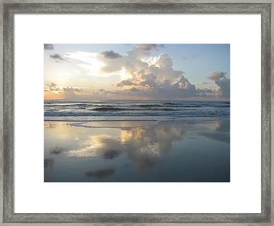 Beautiful Beach Sunrise Framed Print