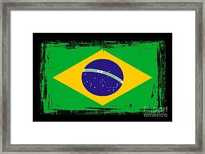 Beautiful Brazil Flag Framed Print