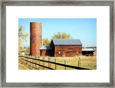 Beautiful Brick Silo Framed Print by Marilyn Hunt