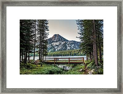 Beautiful Bridge View Framed Print by Robert Bales