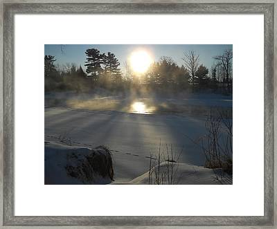 Beautiful Brisk Morning Framed Print