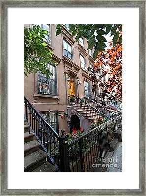 Beautiful Brownstone Home Framed Print