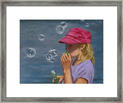 Beautiful Bubbles Framed Print by Joyce Geleynse