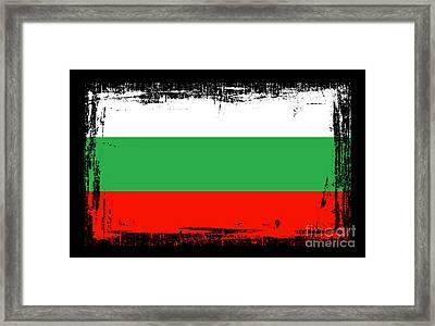 Beautiful Bulgaria Flag Framed Print by Pamela Johnson