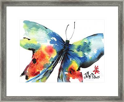 Beautiful Butterfly Framed Print by John Dunn