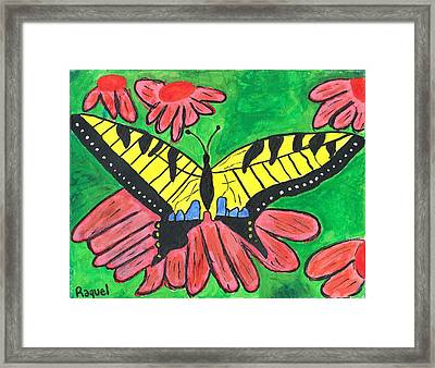 Tiger Swallowtail Butterfly Framed Print by Raqul Chaupiz