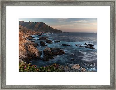Beautiful California Coast In Spring Framed Print by Mike Reid