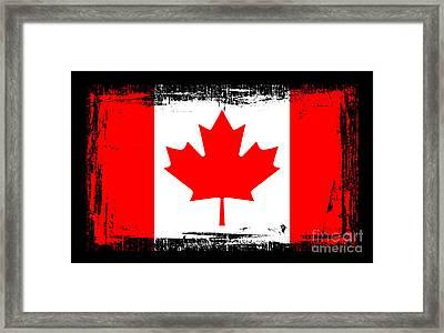 Beautiful Canada Flag Framed Print