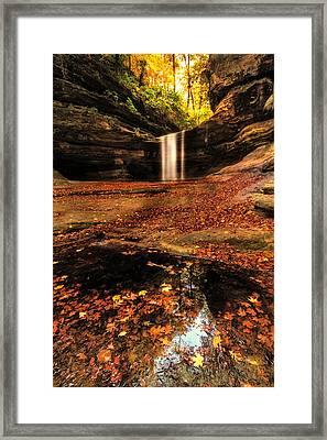 Beautiful Canyon And Waterfall Framed Print by Sushmita Sadhukhan
