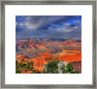 Framed Print featuring the painting Beautiful Canyon by Bruce Nutting