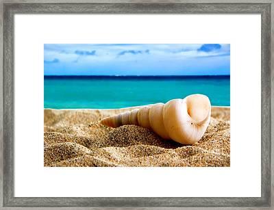 Beautiful Caribbean Sea Framed Print by Boon Mee