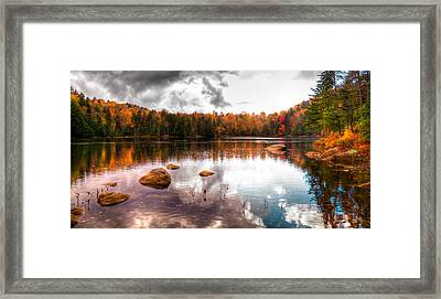 Beautiful Cary Lake In Autumn Framed Print by David Patterson
