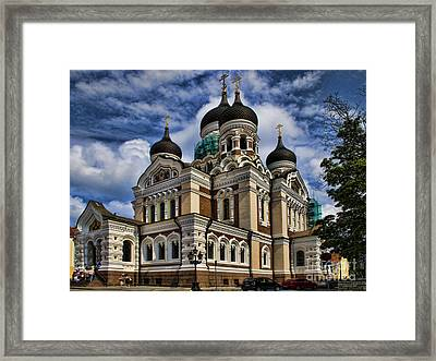 Beautiful Cathedral In Tallinn Estonia Framed Print by David Smith