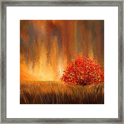 Beautiful Change- Autumn Impressionist Framed Print by Lourry Legarde