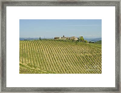 Beautiful Chianti Region In Tuscany Framed Print by Patricia Hofmeester