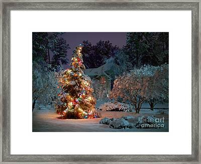 Beautiful Christmas Tree Lights Framed Print by Boon Mee