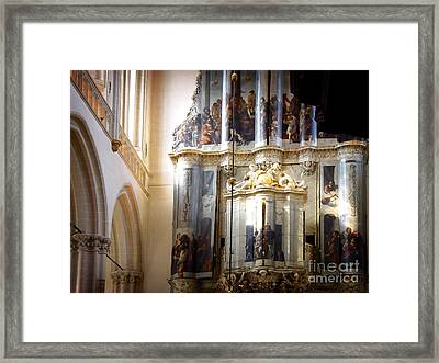 Framed Print featuring the photograph Beautiful Church Interior by Michael Edwards