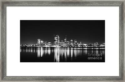Beautiful City Skyline Framed Print by Phill Petrovic