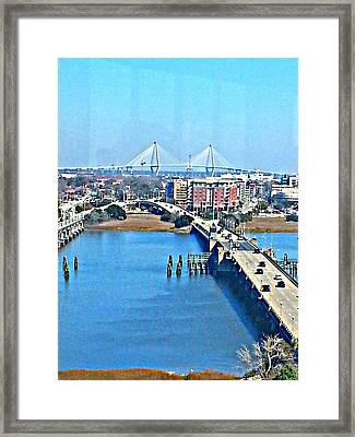 Charleston S C City View Framed Print