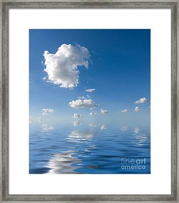 Beautiful Clouds And Sea Framed Print by Boon Mee