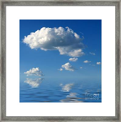 beautiful Clouds Framed Print by Boon Mee