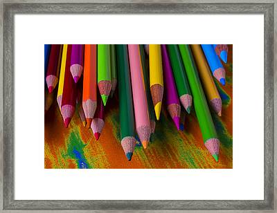Beautiful Colored Pencils Framed Print by Garry Gay