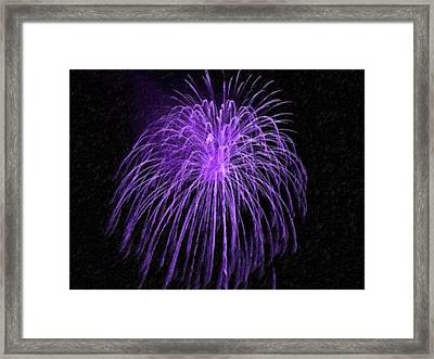 Beautiful Colorful Holiday Fireworks Framed Print by Lanjee Chee