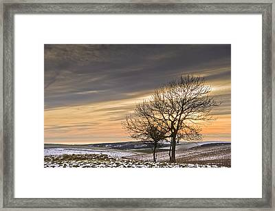 Beautiful Colorful Winter Sunset Framed Print