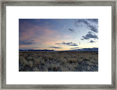 Beautiful Colors Of Sunset At The Reservoir Framed Print by Dana Moyer