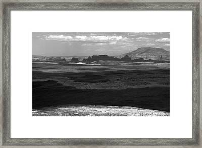 Beautiful Country In Black And White Framed Print by Arkady Kunysz
