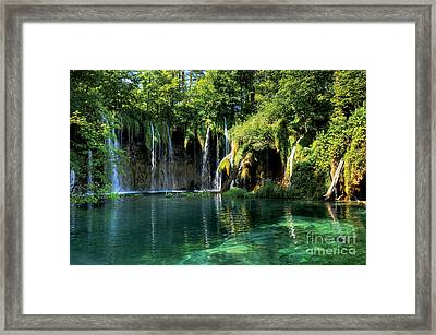 Beautiful Crotia Framed Print
