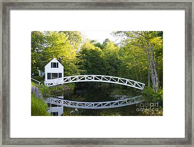 Beautiful Curved Bridge In Somesville Framed Print by Bill Bachmann