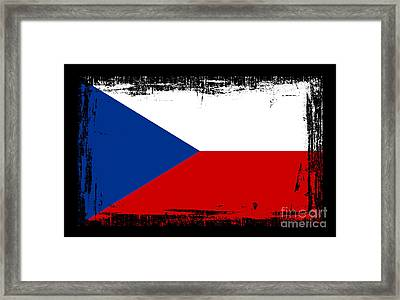 Beautiful Czech Republic Flag Framed Print by Pamela Johnson