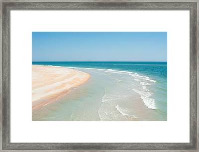 Beautiful Day At Matanzas Inlet Framed Print