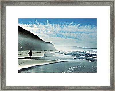 Another Beautiful Day At The Beach Framed Print