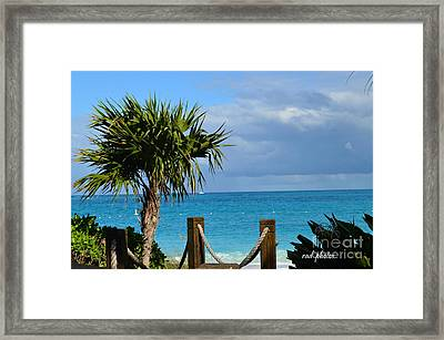 Beautiful Day At The Beach Framed Print by Judy Wolinsky