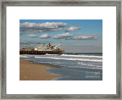 Beautiful Day At The Beach Framed Print by Sami Martin