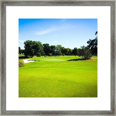 Beautiful Day For Golf!! Framed Print