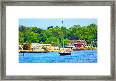 Beautiful Day For Sailing Framed Print by Judy Palkimas