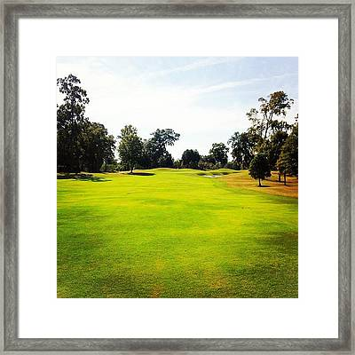 Beautiful Day #golf #fairway#iphone5 Framed Print