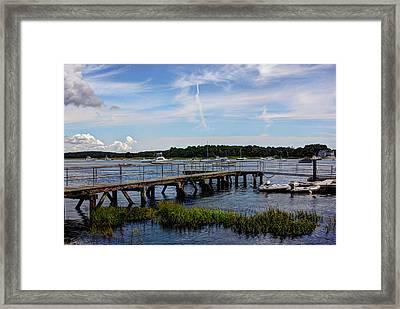 Beautiful Day In Newburyport Harbor Framed Print