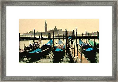 Framed Print featuring the photograph Beautiful Day In Venice by Brian Reaves